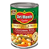Del Monte Vegetable & Bean Blends, California Style, 14.5-Ounce Can, 12 Count...