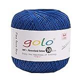 golo Crochet Thread for Begingers Size10 Sapphire Blue for Hand Knitting Yarn