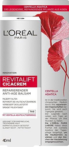 L'Oréal Paris RevitaLift Cicacrem Reparierender Anti-Age Balsam, mit Tigergras, mildert Falten und spendet Feuchtigkeit, 40 ml