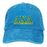 Lsjuee Lambda Chi Alpha Logo Gorras de béisbol Ajustables Sombreros de Mezclilla Sombrero de Vaquero...