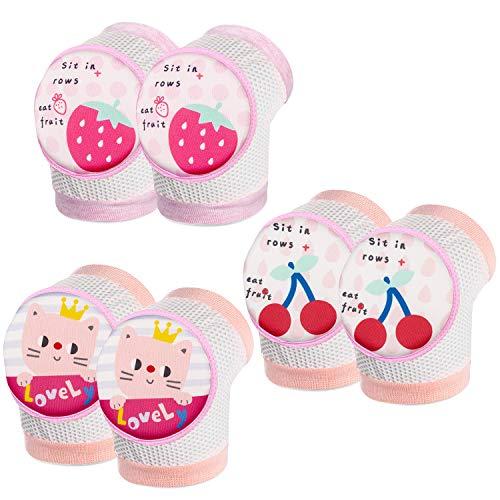 WolinTek Ginocchiere Baby, Ginocchiere per Gattonare Bimbi per Protezione Ginocchio Antiscivolo Gattonare per Bambino,3 coppie