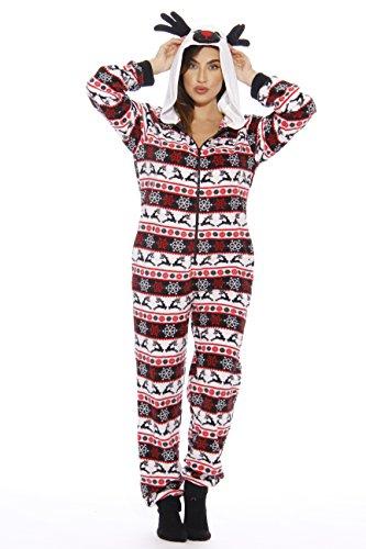 6253 - L Just Love Adult Onesie / Pajamas, Reindeer New, Large