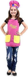 Fantasia Tem Criança na Cozinha - Avental Rosa Infantil Sulamericana Fantasias Rosa U - Único