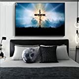 KWzEQ Imprimir en Lienzo Jesucristo pósters y Fotos decoración de la Pared decoración para Sala de arte45x68cmPintura sin Marco
