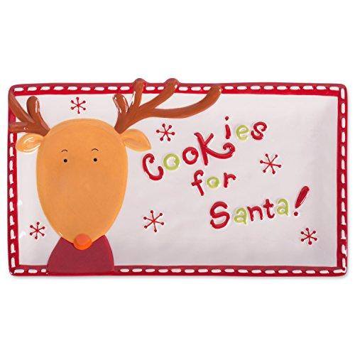 DII Winter Season Dishware Holiday Baking, 11.2x6.5, Reindeer