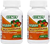Deva Vegan Multivitamin & Mineral Supplement - (2-Pack) Vegan Formula with Green Whole Foods, Veggies, and Herbs - High Potency - Manufactured in USA** and 100% Vegan - 90 Tablets