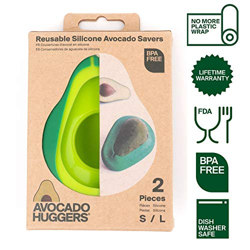 Avocado Hugger- Avocado Saver Reusable Silicone- Covers & Keeps Avocados fresh- Dishwasher Safe Silicone /100% BPA & Phthalate Free Kitchen Accessories- Patented Product by USA Company FOOD HUGGERS