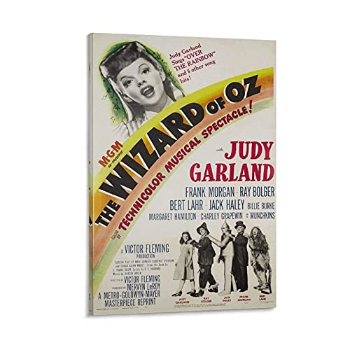 Póster vintage de The Wizard of OZ Judy Garland de 20 x 30 cm