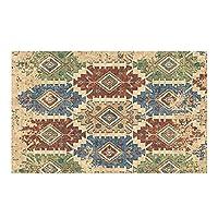 レトロなライトの高級民族スタイルの床のカーペットのための寝室のリビングルームエリアrugsクリスマスの敷物のための女の子の男の子の家の装飾的 (Color : D, サイズ : 80cm*120cm)