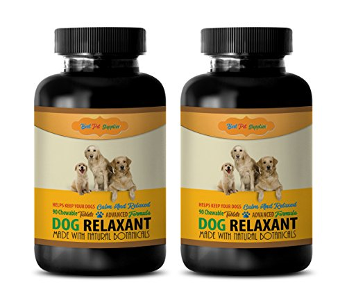 BEST PET SUPPLIES LLC dog relaxer - DOG RELAXANT - CALM AND RELAXED FOR DOGS - NATURAL BOTANICALS - CHEWABLE - l-tryptophan for dog - 180 Chews (2 Bottle)