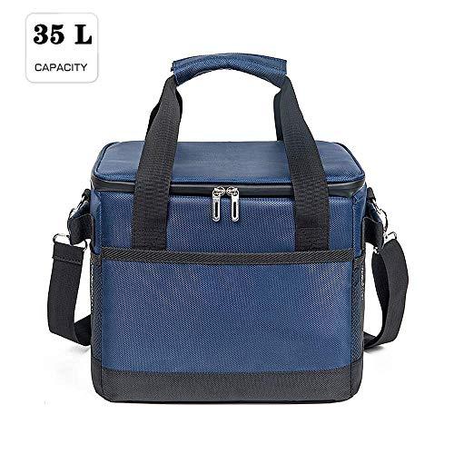 MZZG Kühltasche, Lunchbag für Männerarbeit, isolierte Lunchbag mit Hartfutter zum Warmhalten und Kalthalten, große isolierte große Kühltasche für Camping, Auto- und Outdoor-Aktivitäten,35L