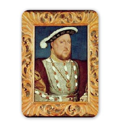 King Henry VIII (oil on oak panel) by Hans.. - Mousepad - Natürliche Gummimatten bester Qualität - Mouse Mat