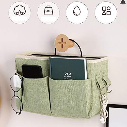 Gognec Bedtas, organizer voor hoogslaper, bed, ophangtas, bed voor boek, afstandsbediening, mobiele telefoon