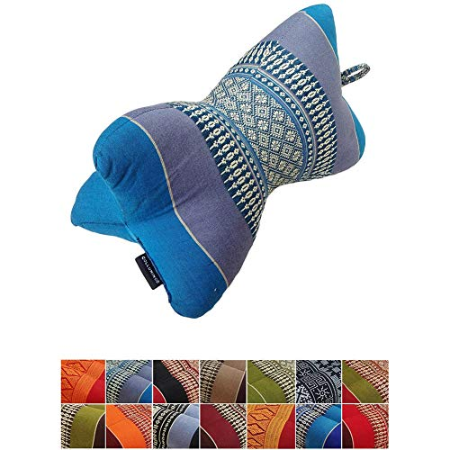 GLX Traditional Thai kapok Support Neck Pillow Massage for Relaxation Yoga or
