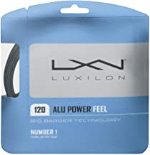Luxilon Big Banger ALU Power Feel 17 Gauge - 120 Polyester (Poly) Tennis Racquet String Set in Multi-Packs - Best for Spin, Playability, and Durability (2-4-6-8-Packs)