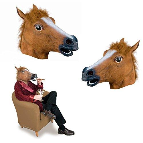 masque cheval brun