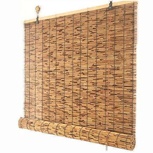 Persianas enrollables y estores Reed Cortina Cortina de Paja Cortar sombreado Sombrilla Decoración Vintage Elevación,Width100*Height100cm