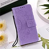 QiuKui Étuis Mandala Fleur Cuir Flip Case pour Sony Xperia 10 II XA1 XA2 XZ1 XZ2 XZ3 Sony Z3 Z5 L1...