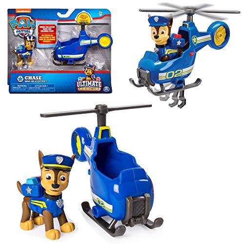 PAW PATROL Ultimate Rescue | Mini Fahrzeuge mit beweglicher Spiel-Figur, Figur:Chase Polizei Hubschrauber