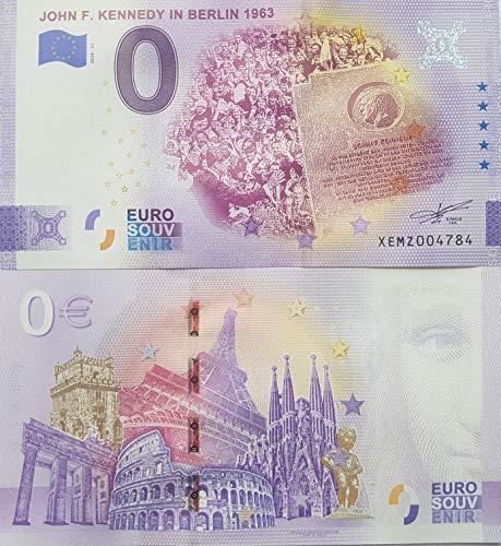 0-Euro-Schein John F. Kennedy in Berlin 1963 - Deutschland Souvenir Null Euro € Sammler