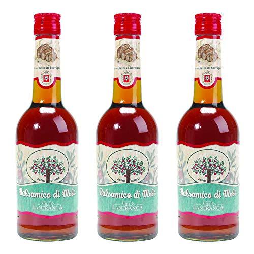 OFFERTA 3 Confezioni di Villa Lanfranca Aceto balsamico di mele invecchiato in barrique, 500 ml