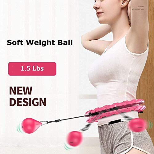 HAOGEGE Hula-Hoop, Fitness, Gymnastics, Adjustable, Workout for Weight Loss, Quick Waist Exercise