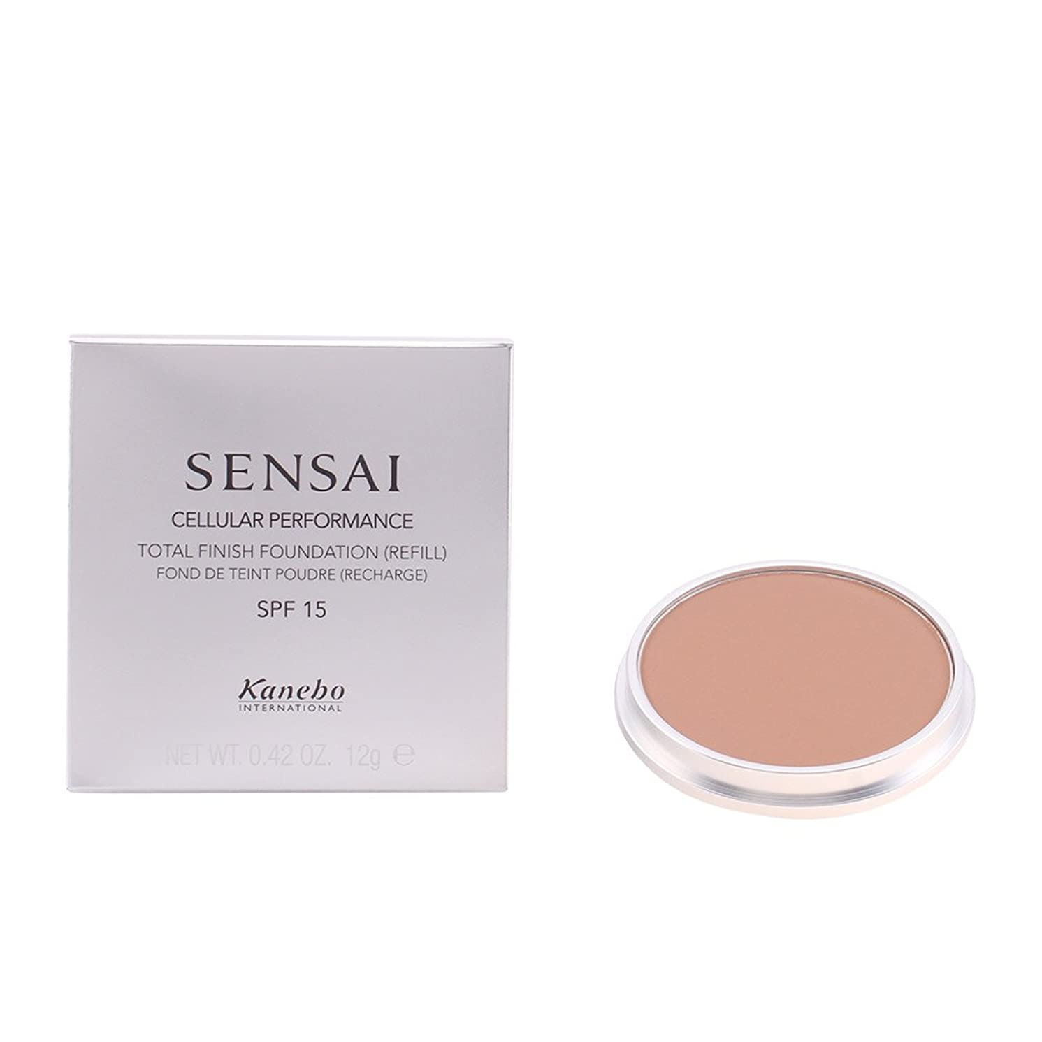 広げる広まった梨Sensai Total Finish Foundation (Refill) SPF15 by Kanebo Bamby Beige TF14