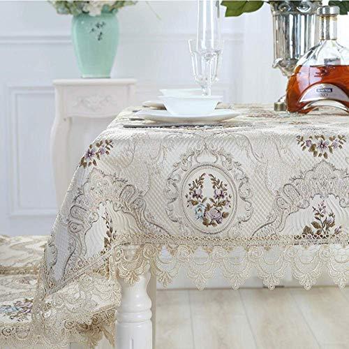 cloth Tovaglia in Pizzo Rosa Tavolo da Pranzo Runner Cabinet Decorazione Rettangolare Copritavolo Cucina Soggiorno Decorazione-140x200cm