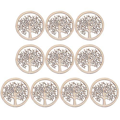 Artibetter 10 Stks Houten Uitsparingen Levensboom Hout Stukken Oorbel Maken Charms Desktop Ornamenten Voor Diy Ambachten Sieraden Maken Accessoires