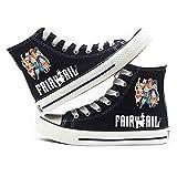 Fairy Tail Zapatos de Lona Impresión Zapatos con Cordones Ocasionales Zapatos de Alta Ayuda Hipster Zapatos Transpirables para Hombre y Mujer