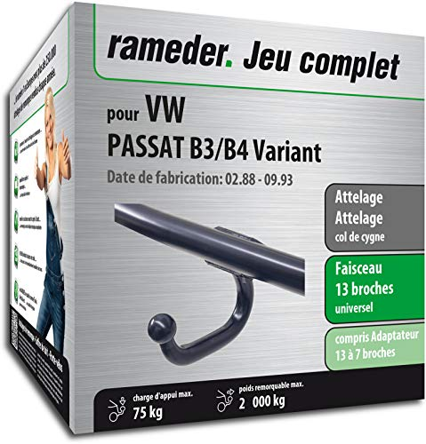 Rameder Attelage soudé pour VW Passat B3/B4 Variant + Faisceau 13 Broches (163040-00423-1-FR)