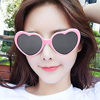 LLF New Creative Christmas Tree Special Effects Glasses Women Girls Xmas Gifts Christmas Heart Shape Special Effects Glasses