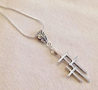 triple cross necklace