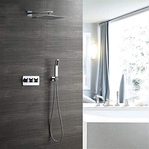 Check Out This Gulakey Shower Set Household 25cm Square Hot and Cold Shower Set Copper Shower Faucet...