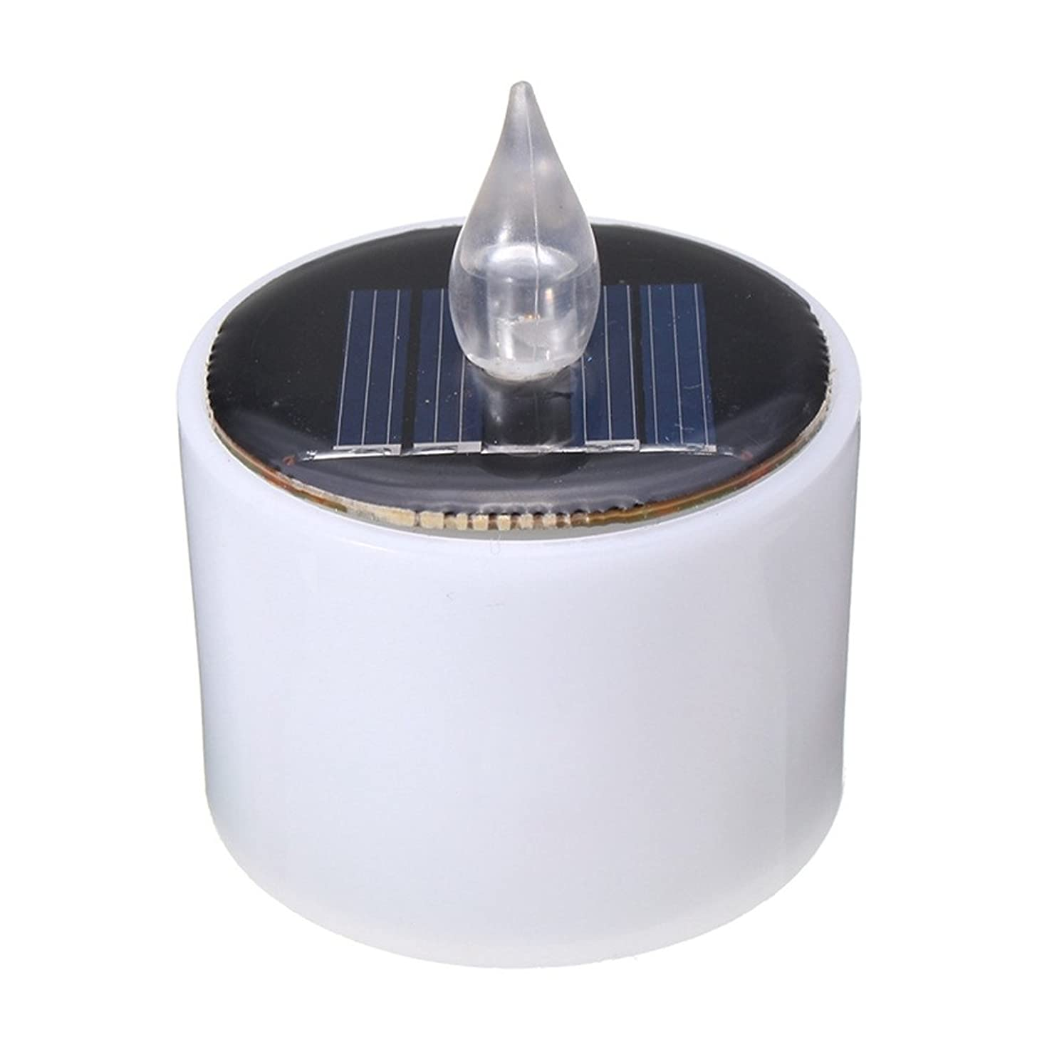 Ruanyi Energy Battery Warm Flicker Flameless LED Solar Light Solar Powered Flashing Candle Tea Light Wedding Home Decor LED lighting