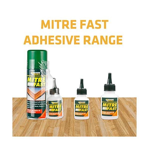 Everbuild MITRE1-EBD Mitre Fast Two Part Bonding Kit, 50 g Adhesive / 200 ml Activator