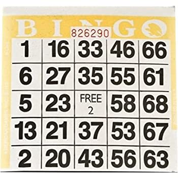 Made in USA 500 Cards SmallToys 1 on Large Print Easy Read Bingo Paper Game Cards Green 4.25 Inch Square Size Disposable Cards No Duplicates