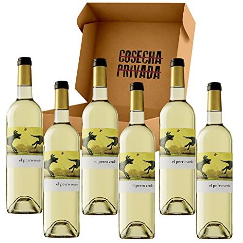El Perro Verde Vino Verdejo - Envío Gratis 24H - Estuche 6 Botellas - DO Rueda - Vino Regalo - Seleccionado y Enviado por Cosecha Privada