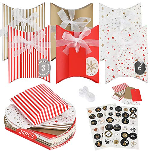 Gift Boxes Candy Box Treat Boxes Party Decorations Supplies for Wedding Xmas Eve Thanksgiving Birthday Gifts and Kids Party Favor Bag 8 Cute Style