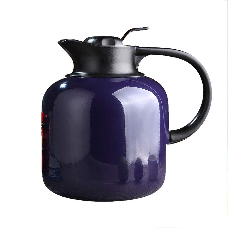 BAIJJ Pot d'isolation de Double paroi en Acier Inoxydable de Bouteille Thermo-Isolante sous Vide de 1,8 L pour Boissons au thé de Lait de jus de café, voitureafe à café (Couleur  Violet)