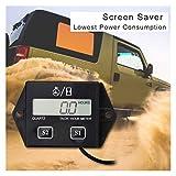 XIAOFANG Digital Motor-Tachometer TACH-Stundenzähler Digital-Tachometer-Messgerät Induktives...