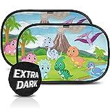 Parasol coche infantil con protección UV certificada extra oscura - autoadhesivo, para proteger del sol a bebés y mascotas, 2 parasoles para bebé M/L de 50x30 cm