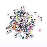 500 Piezas 3mm Ojales Metalicos Colores Mezclados,Ojales Scrapbooking Ojetes de Metal Ojales Redondo 3mm Artesanales de Cuero,Tela para álbumes de Recortes,Tarjetas,Artesanías de Cuero
