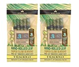 Organic Pre Rolls, Tobacco & Chemical Free, Super Slow Burning, 100% Real Palm Leaf, Just Fill It (10 Slims)