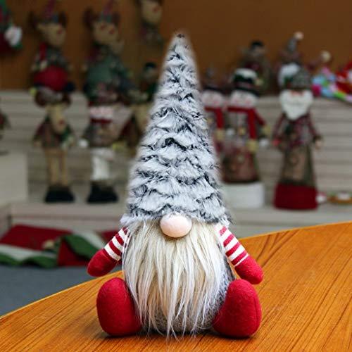 Ansenesna Weihnachten Wichtel Figuren Groß Stoff Zwerge Christmas Schaufenster Schmuck Deko (Rot 4)