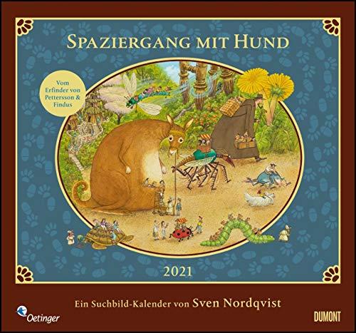 Sven Nordqvist: Spaziergang mit Hund 2021 – DUMONT Kinder-Kalender – Mit 12 Such- und Wimmelbildern – Format 38,0 x 35,5 cm