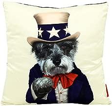 Empire Art Direct Pets Rock Uncle Sam Decorative Throw Pillow