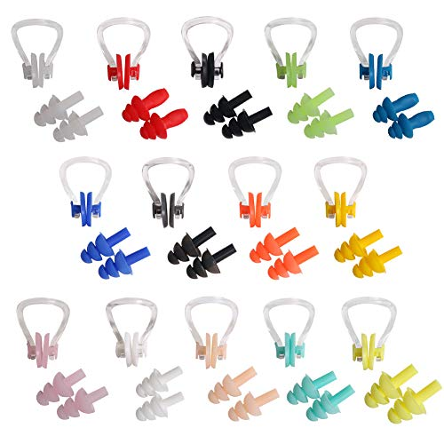 UPINS 14 Sets Silicone Nose Clips Waterproof Swimming Nose Plugs...