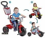 FEBER Evo Trike - Tricycle 3 en 1 pour Enfants de 1 à 3 ans, Rouge (Famosa...