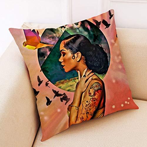 Janly Clearance Sale Pillowcase , Home Decor Cushion Cover African Women Pillowcase Throw Pillow Covers , Home & Garden (A)